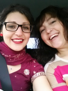 My mom and I on our way to the Toronto Buddhist Church.