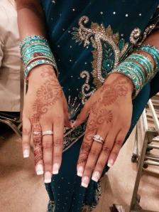 My friend's beautiful henna.