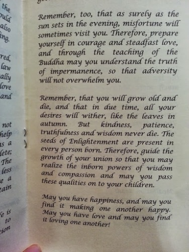 One of the most beautiful passages I read in the Meditation of Marriage for the wedding ceremony.