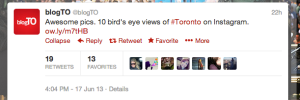 Cool finds on Twitter by BlogTo.