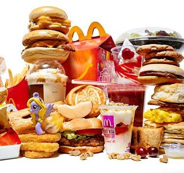 McDonald's menu items.