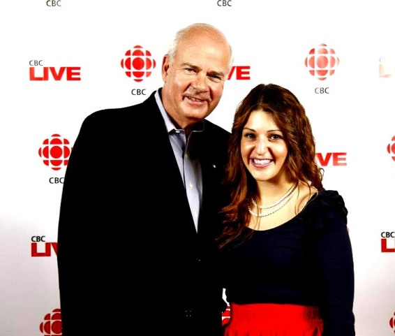 After my internship, I volunteered at the CBC's Sounds of the Season event in December 2011 where I had the chance to meet Peter Mansbridge, host of The National.