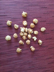 Nothing like caramel popcorn! It's a sweet and salty snack that could pass as being better than a bag of chips.