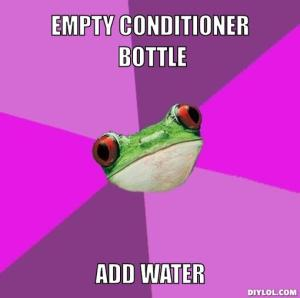 foul-bachelorette-frog-meme-generator-empty-conditioner-bottle-add-water-6a8fbd