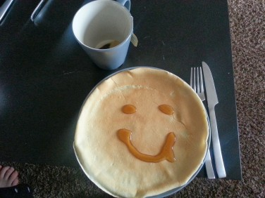 My partner's roommate makes crepes on the reg. Sunday morning crepes, might I add. I surely missed them this AM!
