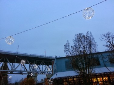 Granville Island was getting in the spirit of the holidays, that's for sure. Glitter and sparkle were everywhere.