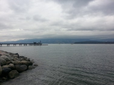 I went to Kitsilano Beach for the first time and read my book by the shore for quite a while. No words can even describe how pleasurable this was.