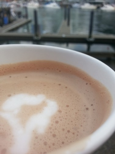 I got this hot chocolate and sat in my favourite spot: The Granville Island Ferry Dock. I watched the birds fight for bread crumbs and the yachts sail by. Oh, I also read up on Rob Ford. You can take the girl out of Toronto...
