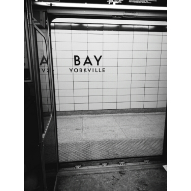 Bay Station, a somewhat lonely place as most of the people who get off and on here are willing to spend way too much on their dinner.