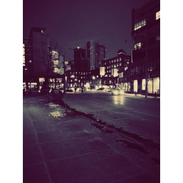 Before the storm: An evening walk to the subway from Richmond St W.