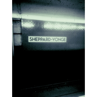 Sheppard-Yonge Station, the only place where I'm lucky enough to eventually find a spot to sit. This joint is the only station from which people actually get off between Eglinton and Finch.