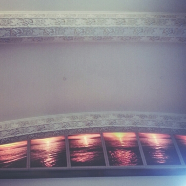 The ceiling art in 2 Queen St E.