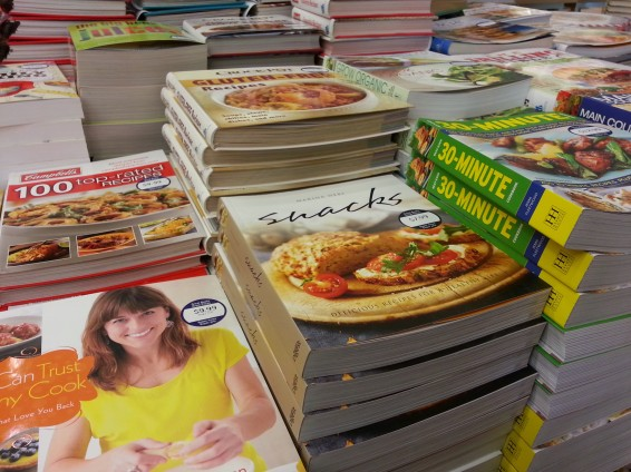 The best selection of cookbooks a girl could ask for.