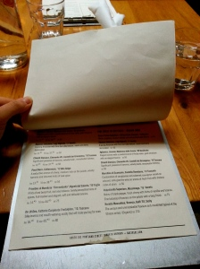 The never-ending wine list at Gusto101.