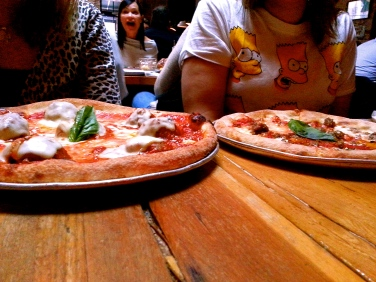 Two delicious personal pizzas from Gusto 101.