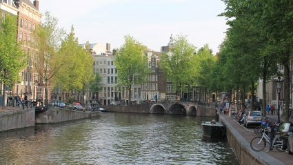 Amsterdam's world famous canals. It blows my mind that people get to LIVE here.