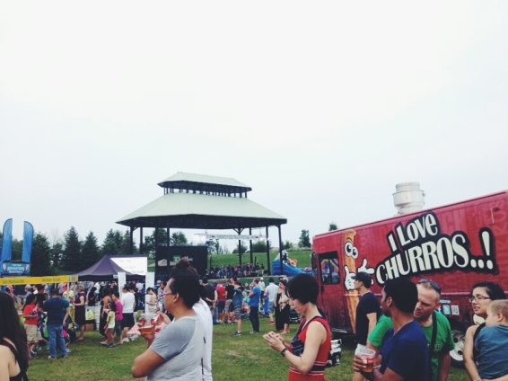 Grey skies couldn't keep the crowds away. Photo by Leviana Coccia.