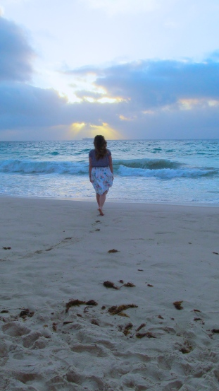 My first time in years touching the sand in an out-of-Canada beach. Photo by: Leviana Coccia.