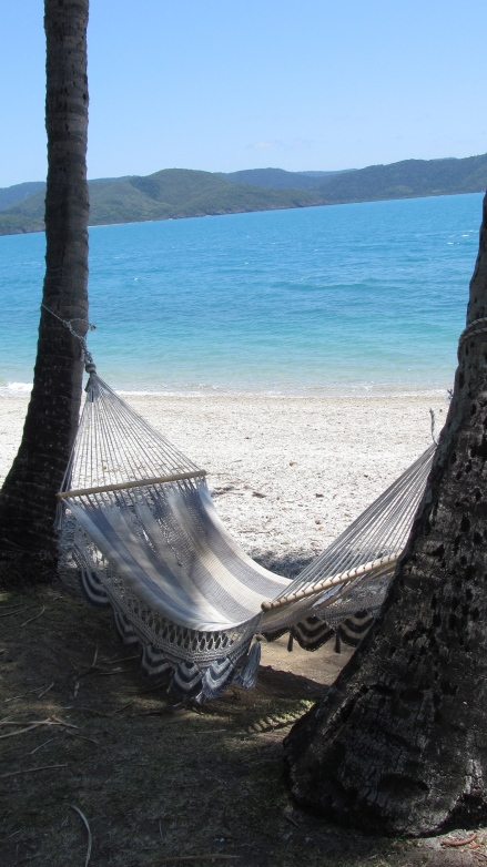 A hammock waits for a napper on Daydream Island in The Whitsundays. Photo by: Leviana Coccia.