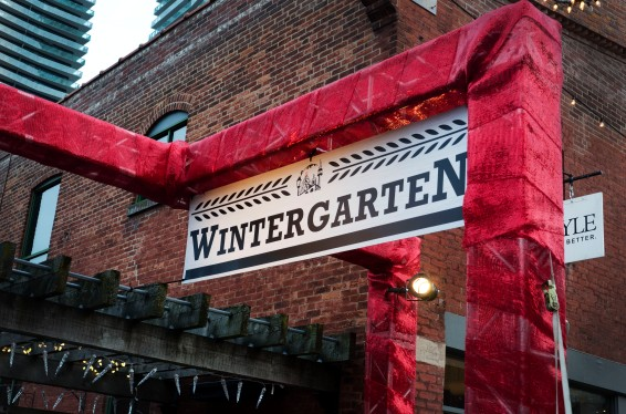 The Wintergarten section had warm campfires and vendors serving alcoholic beverages.