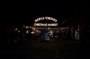One of the entrance-ways to the Toronto Christmas Market.