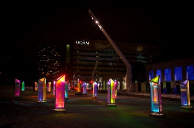 One of the beautiful installations at MONTRÉAL EN LUMIÈRE.