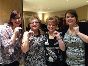 Some of our members flaunting our new medals.