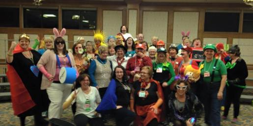"""Our """"Power Up"""" theme at our spring retreat."""
