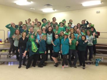 Having rehearsal on St. Patrick's Day.
