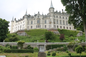 Dunrobin Castle, home to the earls and dukes of Sutherland. This castle is situated on the east coast, just above Dornoch and Inverness. It's beautiful windows face right out into the ocean.