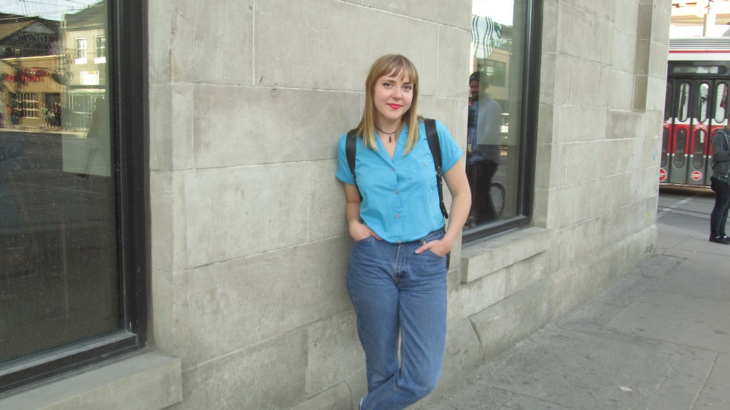 Stephanie Traplin, owner of Take Time Vintage, in Toronto. Photo by Leviana Coccia.