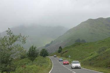 The narrow mountain roads require trust in oncoming drivers.