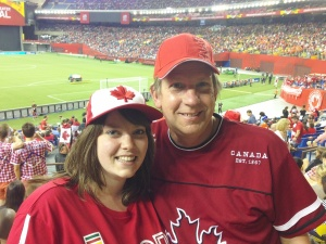 My dad and I at the Canada vs Netherlands game.