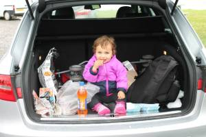 Eating while traveling on a budget can be tricky. Who said you can't have a picnic though with grocery store snacks in the trunk of your rental car?