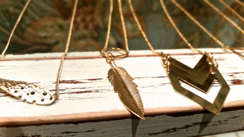 Handmade necklaces at Sylvie and Shimmy. Photo by: Leviana Coccia.