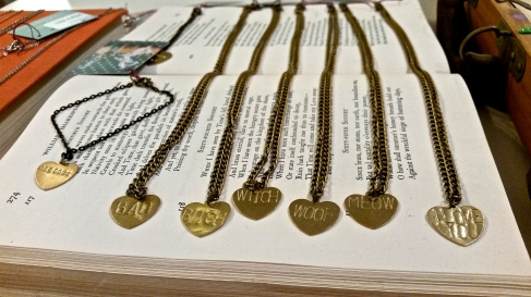 Engraved necklaces for sale at Sylvie and Shimmy. Photo by: Leviana Coccia.