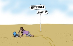 Social Addiction. Via: www.laurenmarinigh.com.