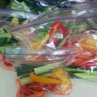 Our first veggie prep
