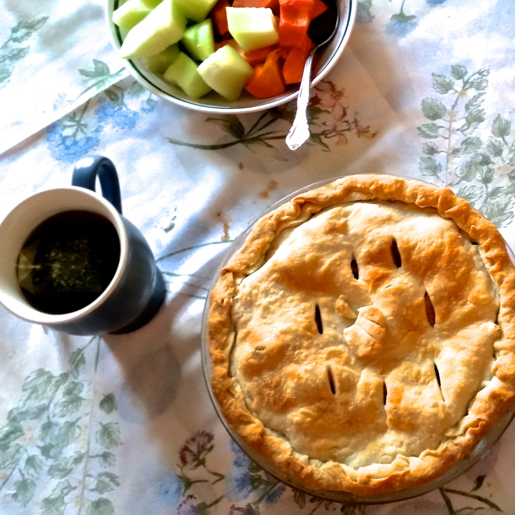 Homemade apple pie for one? Excellent. Just kidding. I shared (kind of).