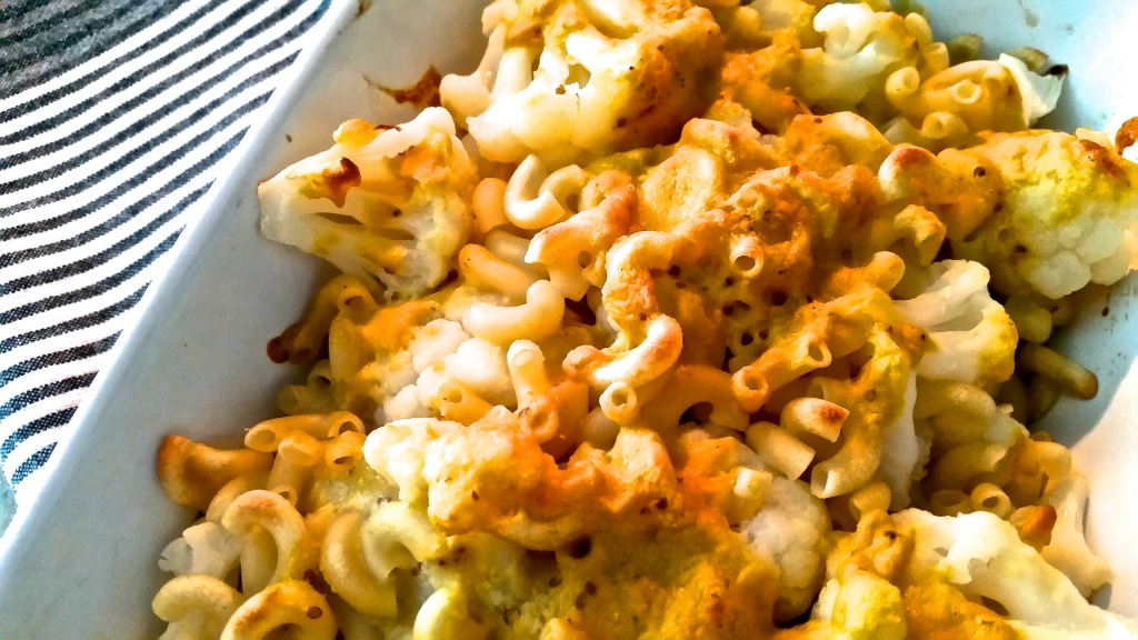 Homemade, vegan mac and cheese. I had been craving mac and cheese for WEEKS before I made this. I found a recipe on Oh She Glows and started to get busy. The end result was fabulous.