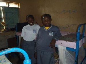 Aninga and her sister, Uganda.