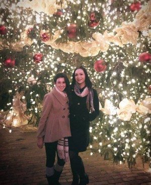 My best friend and me under the big tree!