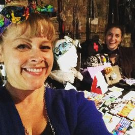 Gracie Klutz at a market, selling #PinUpsbyGracie. Photo courtesy of: Gracie Klutz.