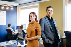 Katrina German with business partner, David Stobbe. Photo courtesy of: Stobbephoto.ca.