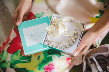 Unique bridesmaid custom crafted jewelry by Hattitude Jewellery. Photo by: Magnolia Studios.
