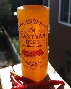EastVan Bees' chili infused honey. Yum! Photo courtesy of: EastVan Bees.