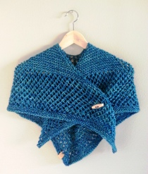 Warm blue shall. Photo courtesy of Wapta Knitting Co.