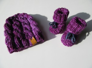 Matching toque and booties! Photo courtesy of Wapta Knitting Co.