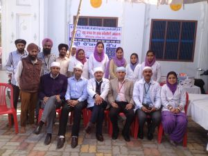 Hospital staff at a medical camp Kernjeet and her team hosted in a village close to the hospital. Courtesy of: Kernjeet Sandhu.
